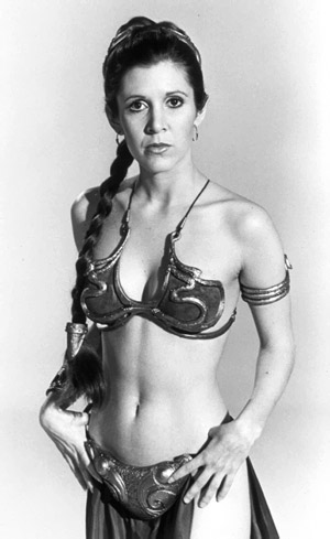 return of the jedi princess leia bikini. ikini that Princess Leia