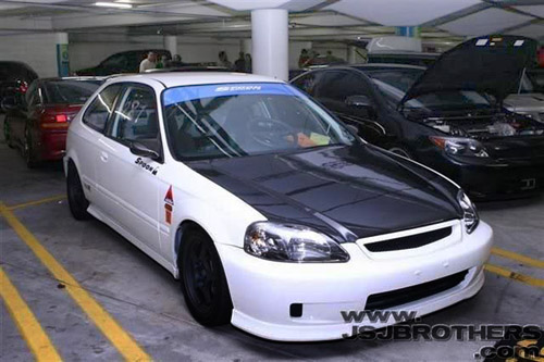 honda civic hatchback modified. modified honda civic hatchback white color picture