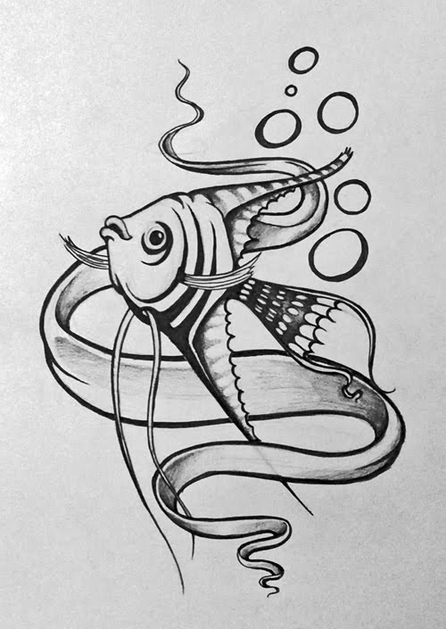 Angel fish tattoo design - photo#9