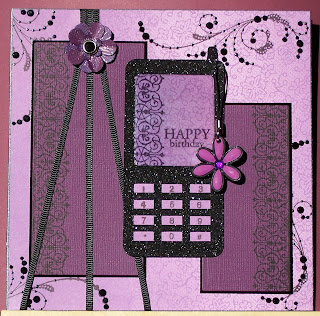 Whitch craft sarahs mobile cell phone birthday card bookmarktalkfo Image collections