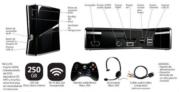 Xbox 360 Slim 4gb calle elm street: x-bo...