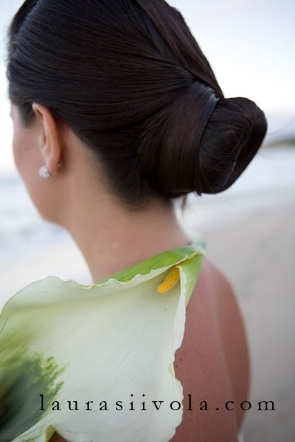 Bride on beach with bouquet Scottsdale Wedding Photographer