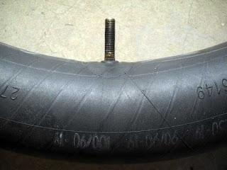 Motorcycle inner tube.