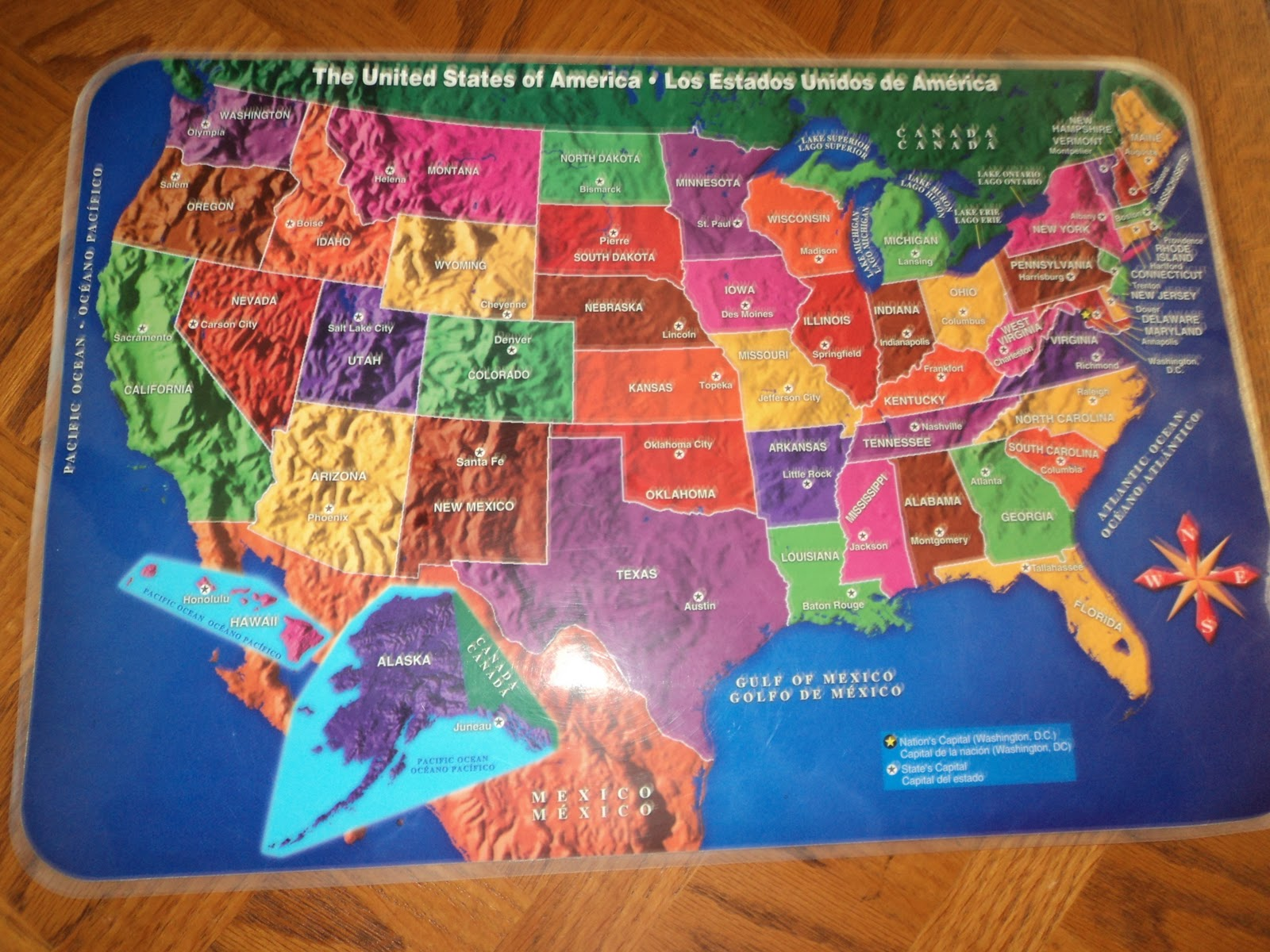 Addition To This Puzzle I Purchased Very Affordable Table Mat With All Us States Whenever We Have A Meal 3 X Day I Put It On The Table