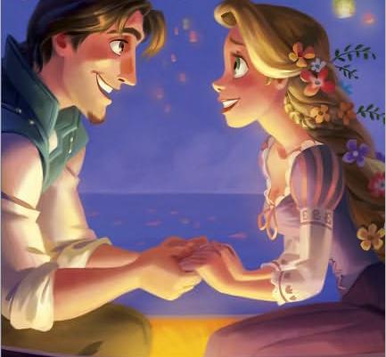 Princesas Disney: Varias ilustraciones de Enredados