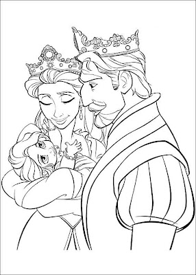 """Disney Soul: Dibujos para colorear de """"Enredados"""""""