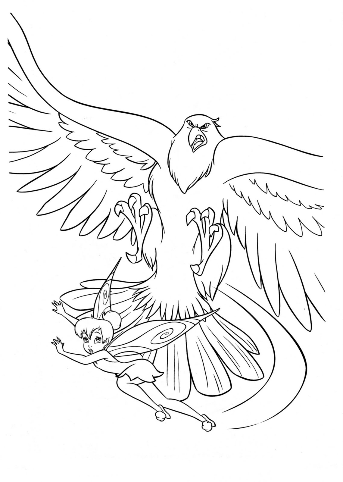 Free Coloring Pages Of Tinker Bell Para Colorear