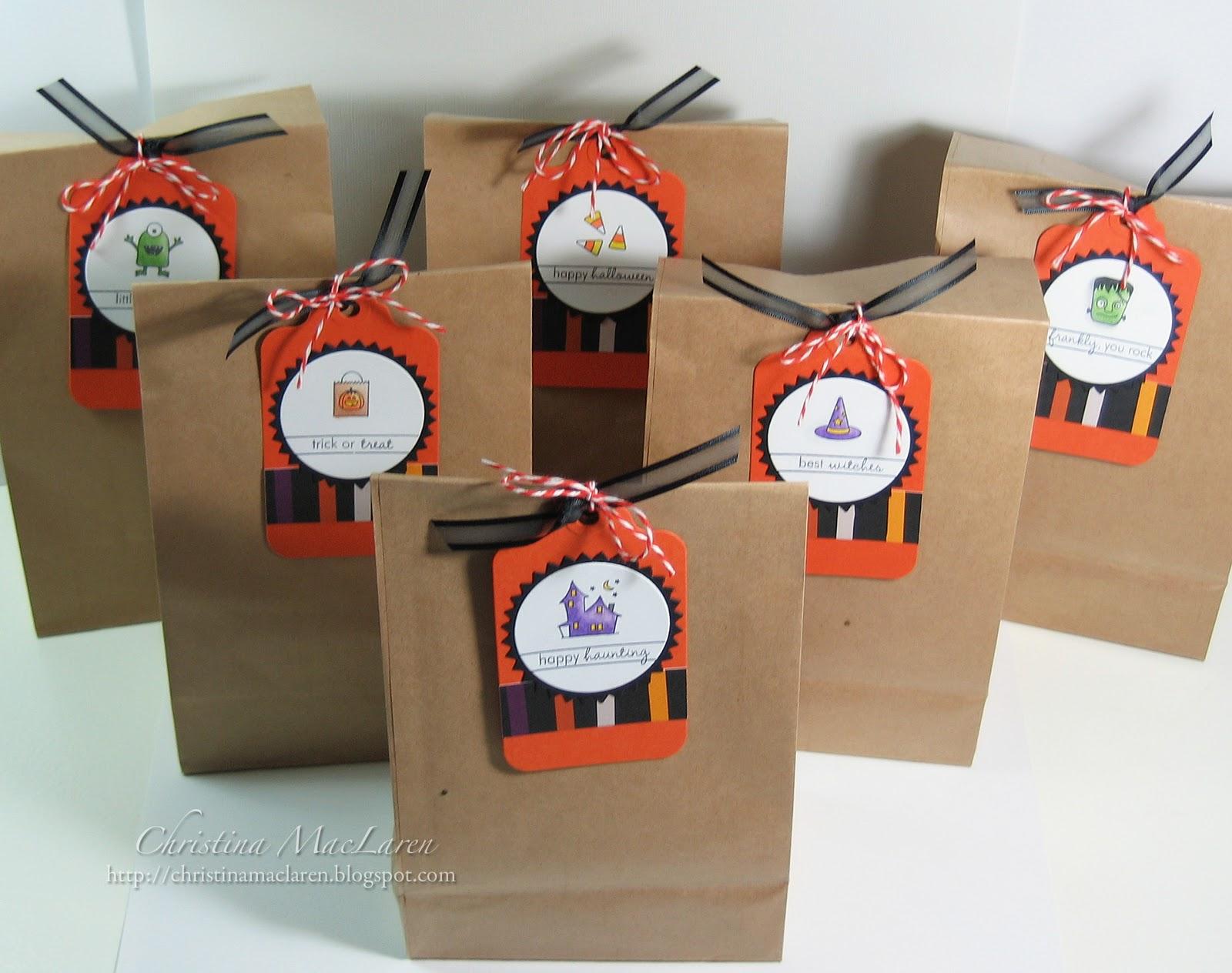 seaglass papercrafts: halloween goody bags