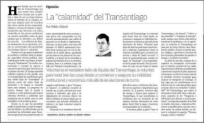 La Tercera, Septiembre 07 de 2008