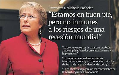 La Tercera, Octubre 12 de 2008 ... Ibañez en 1929, Pinochet en 1981, Frei en 1997, todos han dicho lo mismo ... pero la crisis tocó fuerte los bolsillos ciudadanos