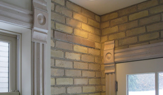 Brick Wall Interior House Our House Is An 1889 Yellow Brick Victorian Outside The Brick Is