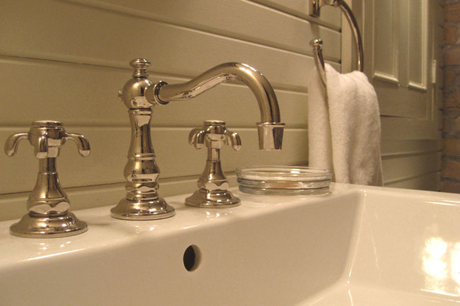 Apropos of nothing half bath tour for Restoration hardware bathroom faucets