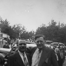 Benson and Bernard at Mesaba Co-Op Park... 1940