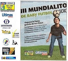 TERCER MUNDIALITO DE BABY FUTBOL 2010