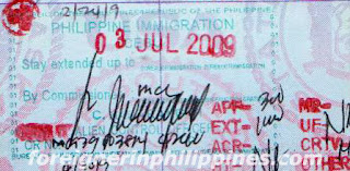 Philippines visa extension
