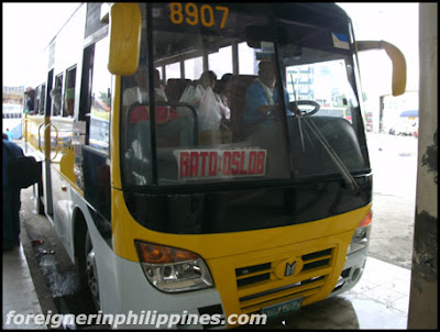 Ceres bus going from Cebu to Dumaguete
