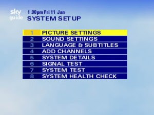 System Set Up Menu