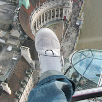 My foot on County Hall, London