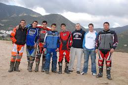 Pilotos del Motoclub Villa de Ojén.