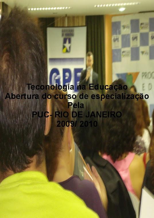 """Aula inaugural da Especialização """"Tecnologia em Educação"""""""