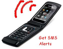 Get sms alert of a new post on your phone