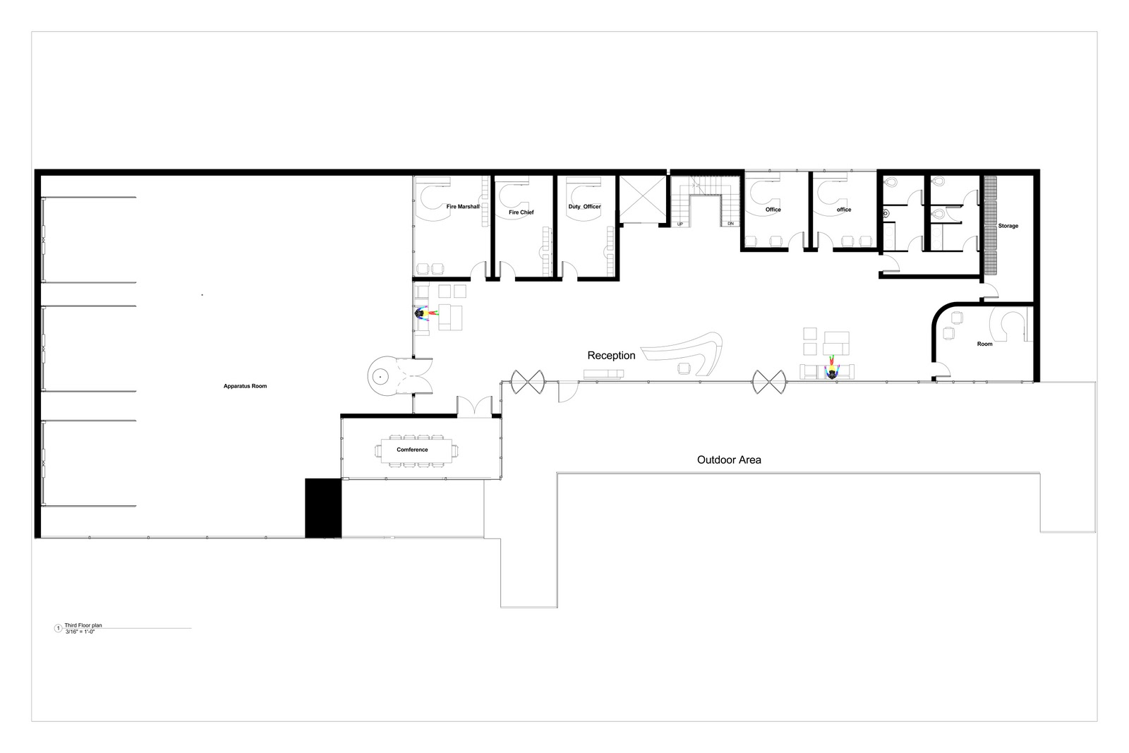 Arch 3611 Theoretical Design Fire Station Floor Plans Proposed
