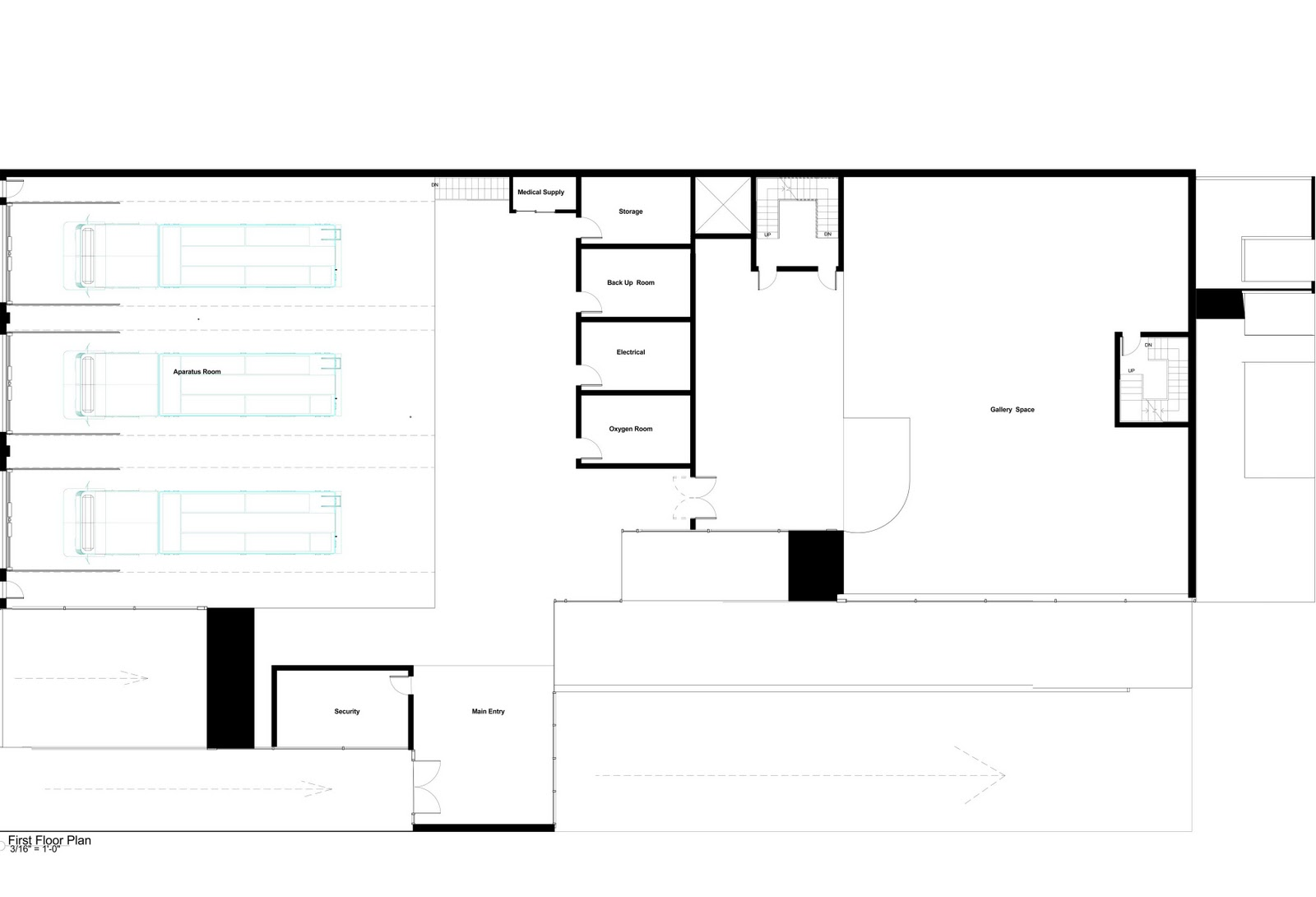 Arch 3611 Theoretical Design Fire Station Floor Plan And Secitons