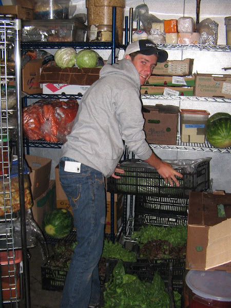 May 28, 2010 -Volunteer Will Travis Packs in the Produce!