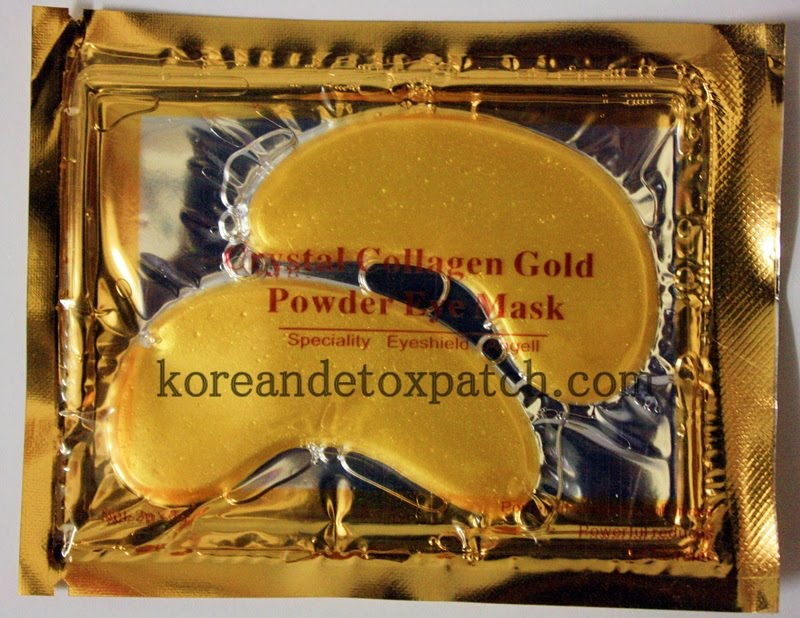 crystal collagen gold powder eye mask instructions