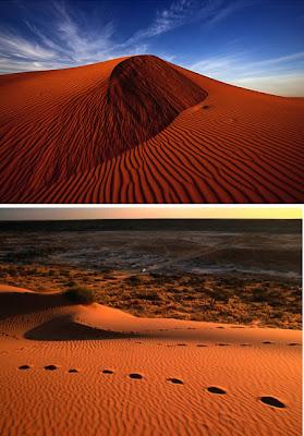 Simpson Desert (Australia): the red sand desert