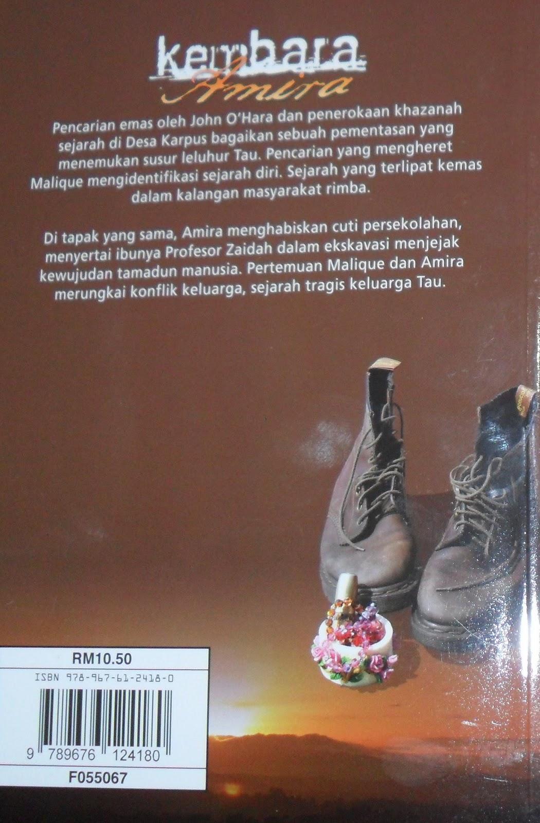 ... belakang novel memaparkan maklumat ringkas tentang penceritaan novel