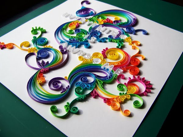 Quilling Wall Art Design : All things paper more quilled lettering