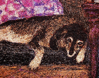 Syd & Me_detail, textile art embroidery by Susanne Gregg