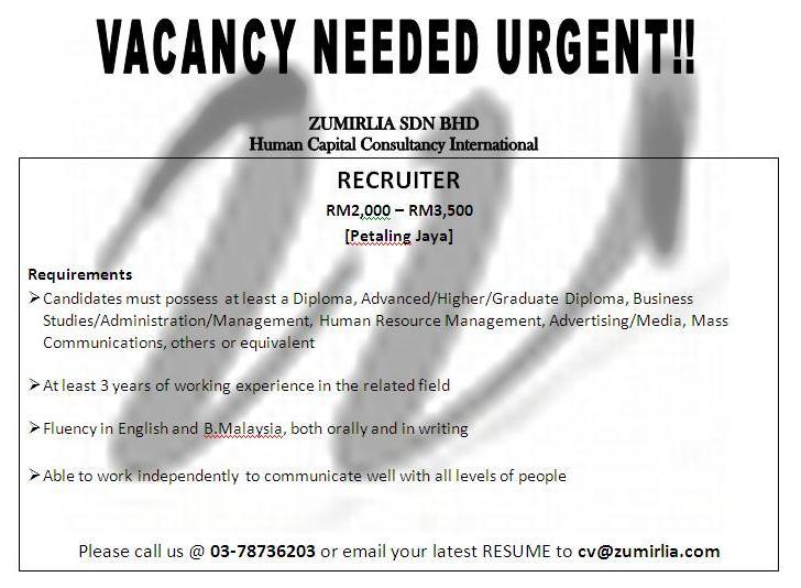 Job Vacancy Jawatan Kosong 2010