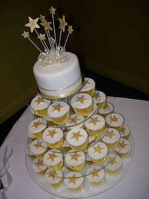 Cupcake Wedding Cakes. to an actual wedding cake: