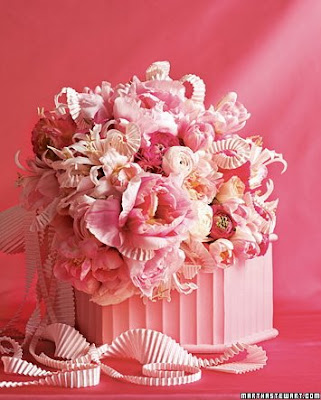 beautiful pink wedding flower