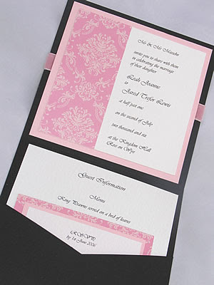 Black And Pink Weddings