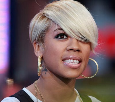 keyshia cole Blonde Celebrity Hairstyles With Short Hair and Sexy Black
