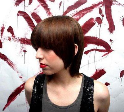 short angled hairstyles. short haircuts-Angled Bob