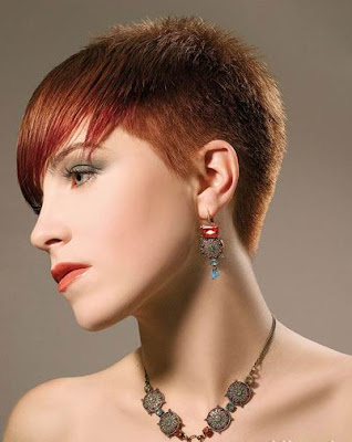 short+red+Crop Haircuts for Women