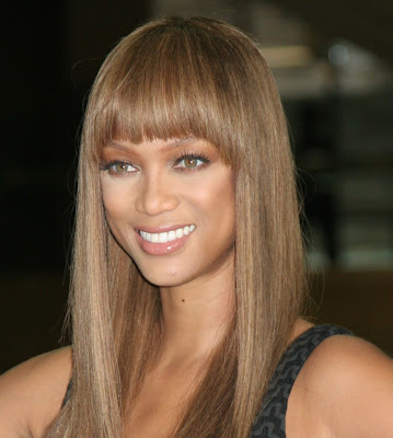 Tyra Banks is a successful model who has changed her looks,