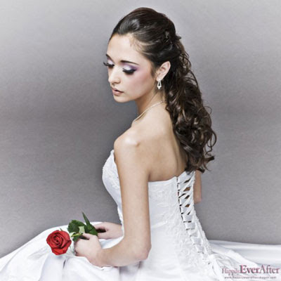 Modern 2009 wedding hairstyle