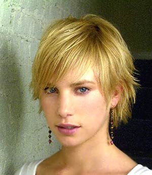 blonde haircut