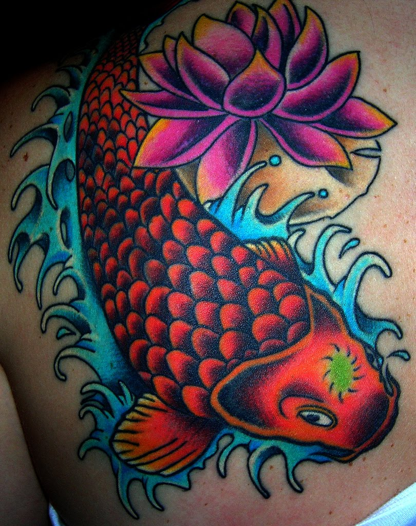 Best angel tattoo september 2010 for Japanese coy fish tattoo