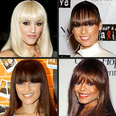 Modern hairstyles haircuts with bangs