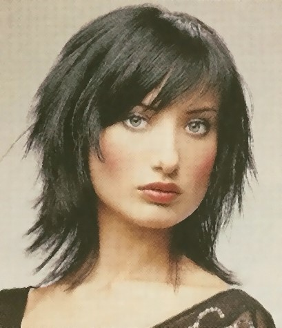 Latest cool medium hairstyle with side bangs
