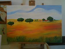 Tela pintada a óleo