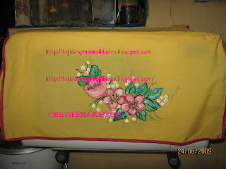 Tejidos y manualidades pintura sobre tela mis - Pintura para microondas ...