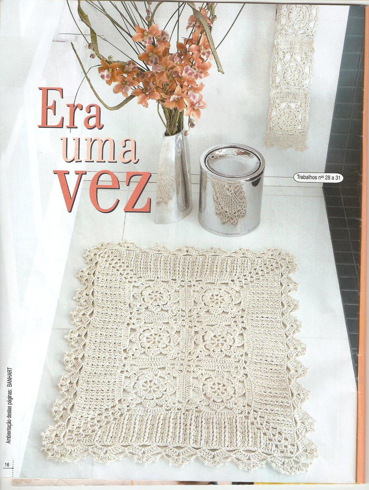 Juegos De Baño Blanco:Juegos De Bano En Crochet