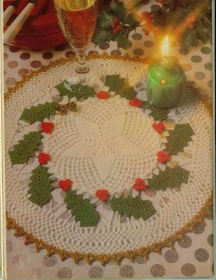 Carpeta navideña tejida a ganchillo o crochet.